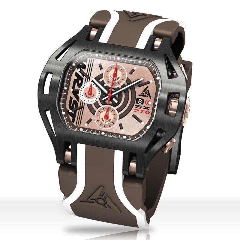 Montre Wryst Black SX270 avec cadran en or rose
