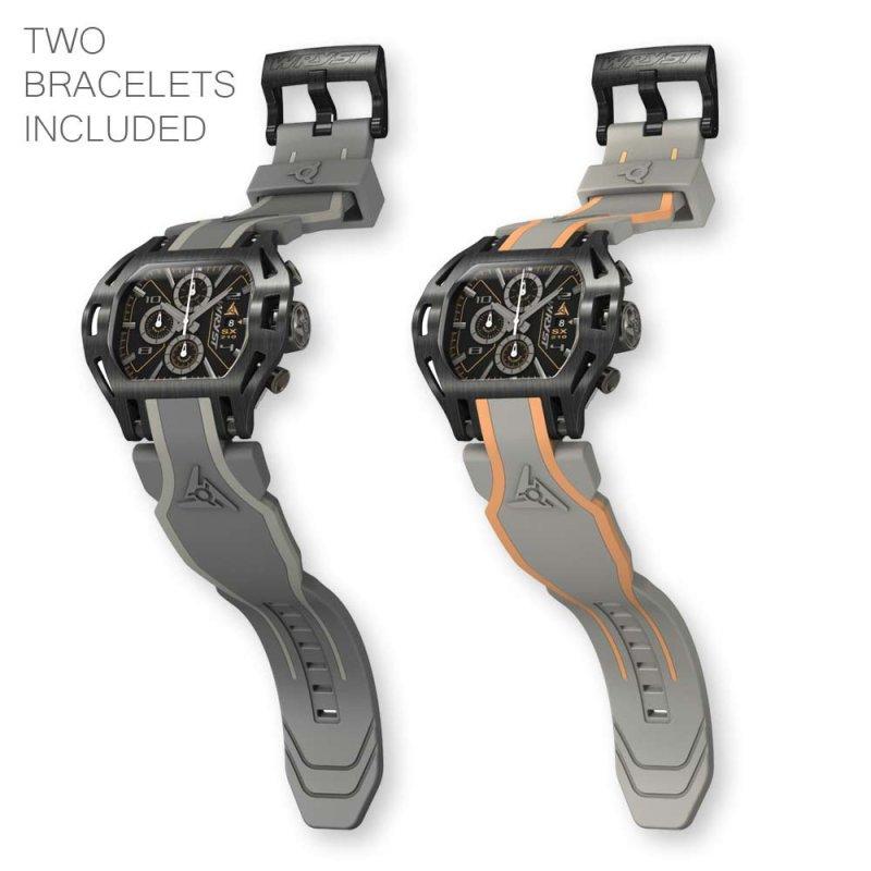 Schwarz Schweizer Uhren Gun PVD
