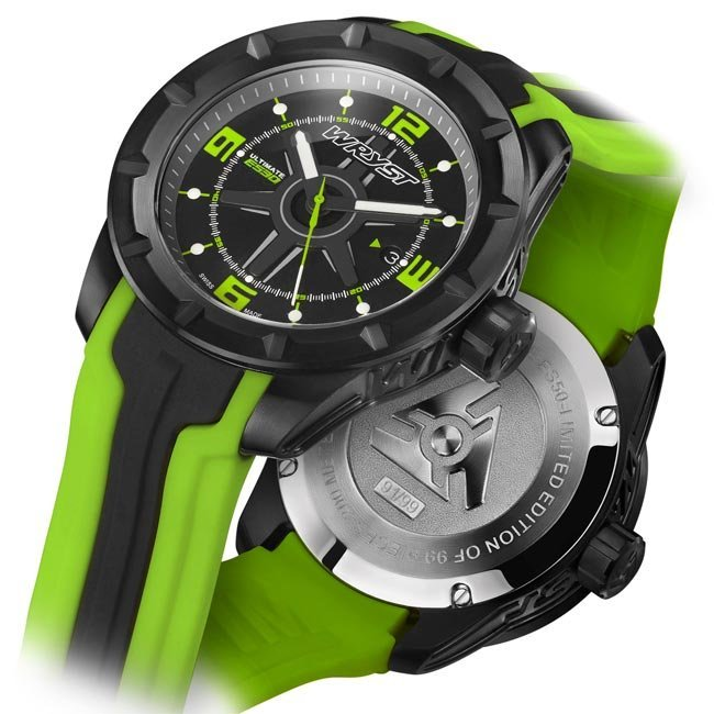 Black and Green Swiss Sport Watch