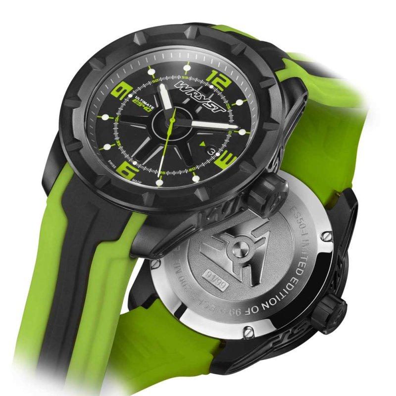 Schwarz und Grün Schweizer Sport-Uhr