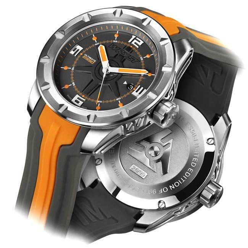 Luxus Schweizer Uhren Grau und Orange