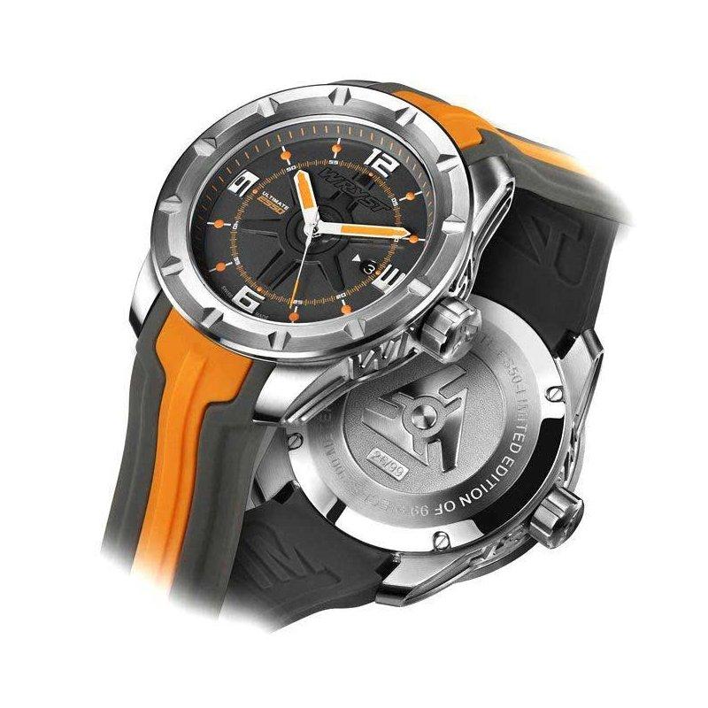 Orange Sport-Uhr Wryst