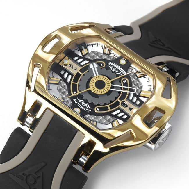Automatic gold plated watch