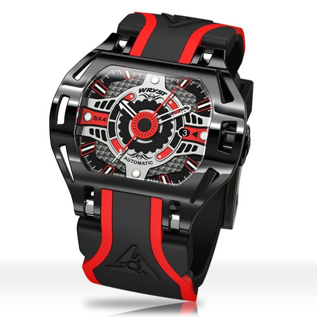 Automatic Wryst Watch Racer SX4 in Black and Red