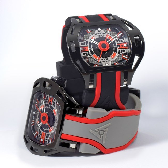 Black and Red Automatic Swiss Watch