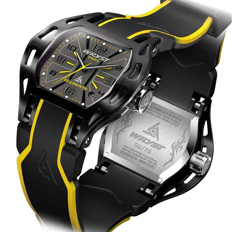 Gelb und Schwarz Schweizer Uhr für Männer