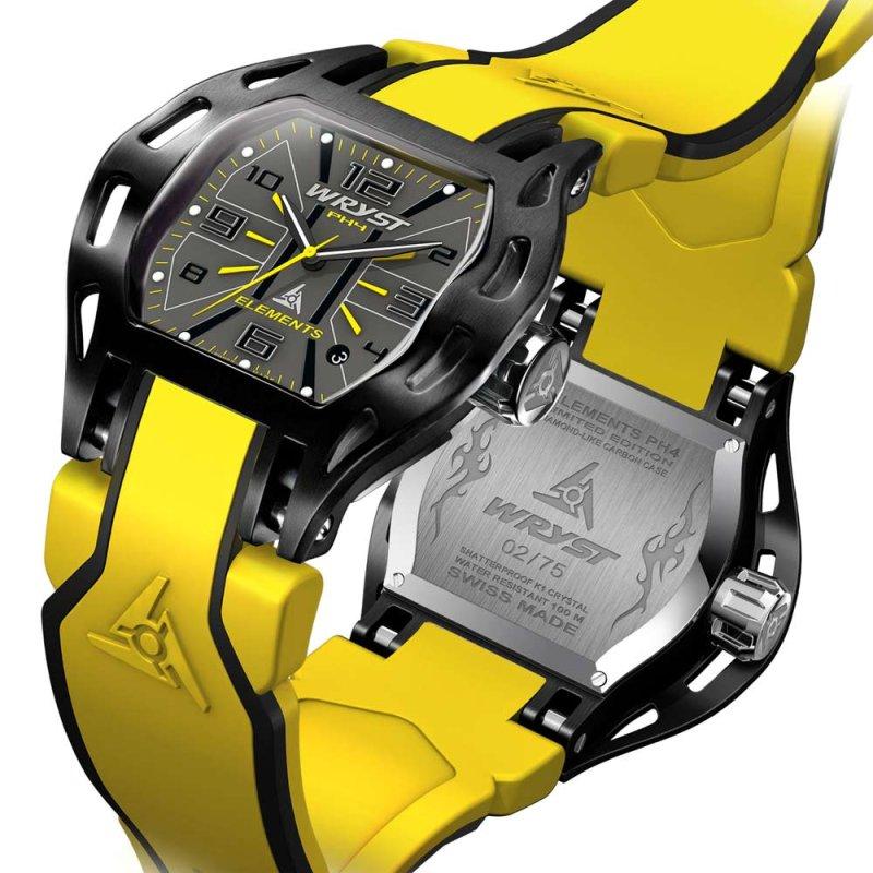 Yellow Swiss Sport Watch Wryst