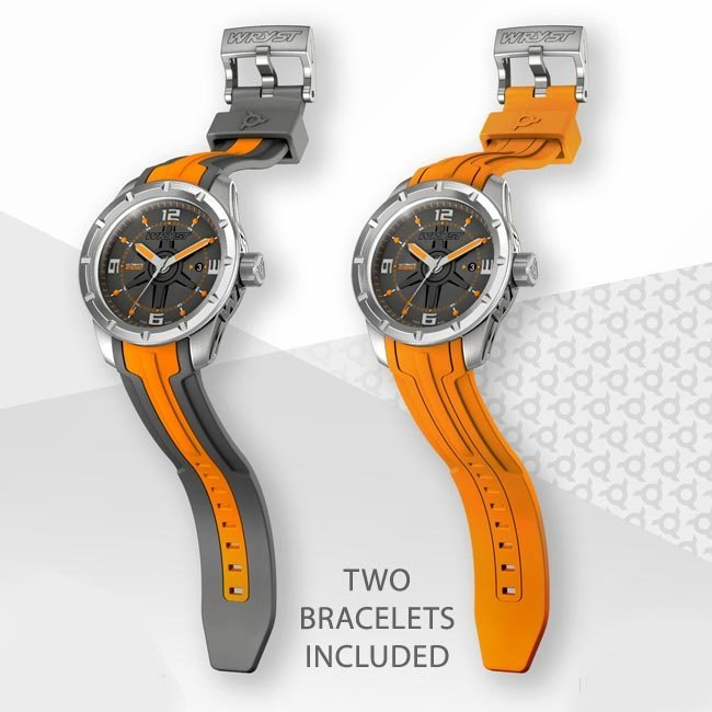 Orange sport watch swiss made Wryst Ultimate ES50