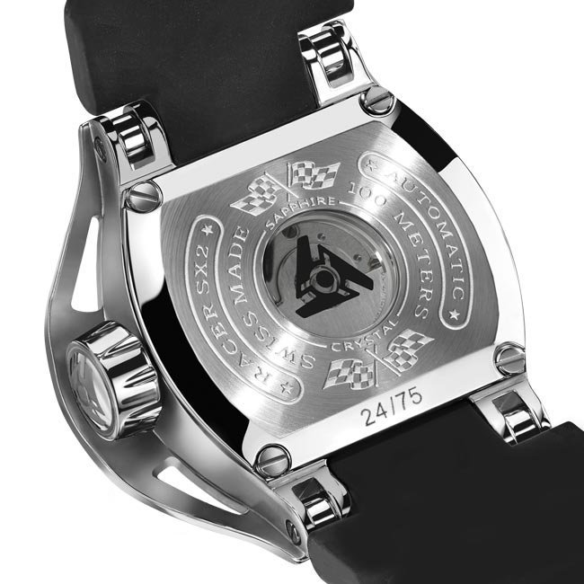 Automatic watch see-through case back