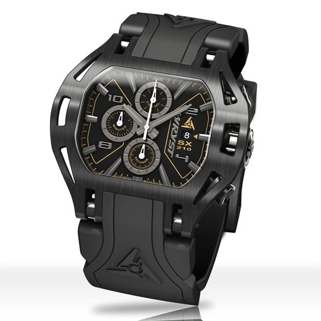 Black on Black Wryst Force SX210 Watch
