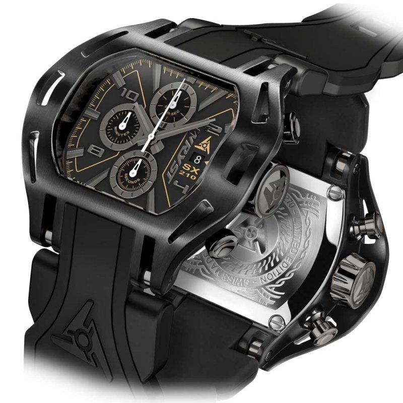 Schweizer Schwarz auf Schwarze Uhr