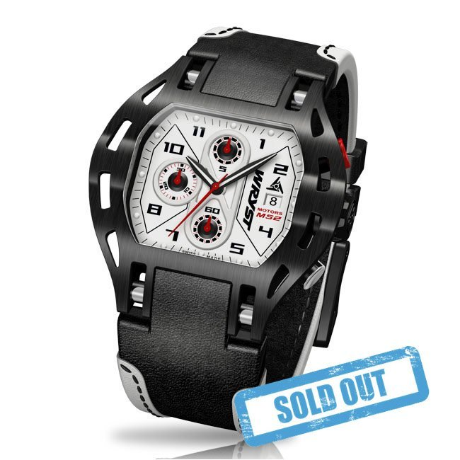 Racing Sport Watch leather strap swiss made