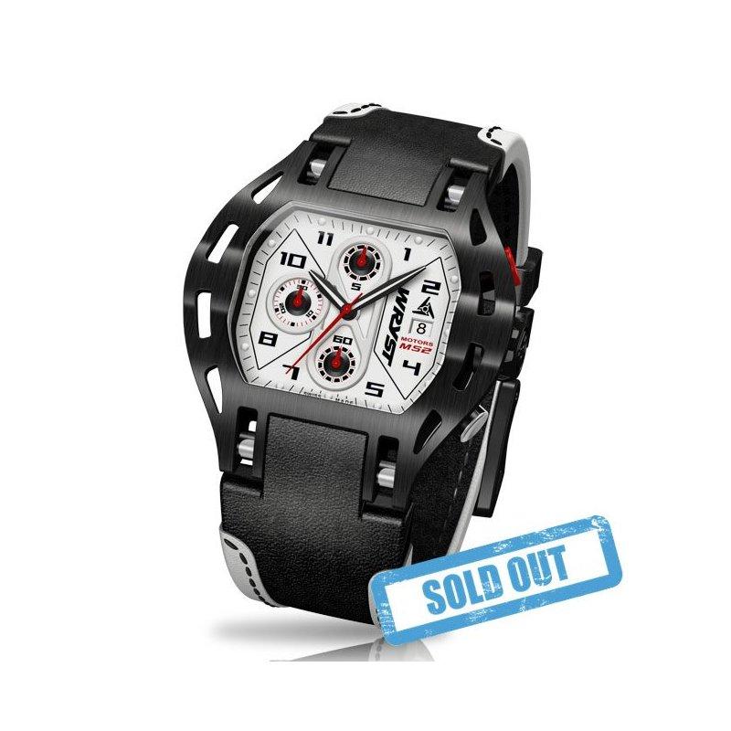 Rennsport -Uhr Lederband - Wryst Motors MS2