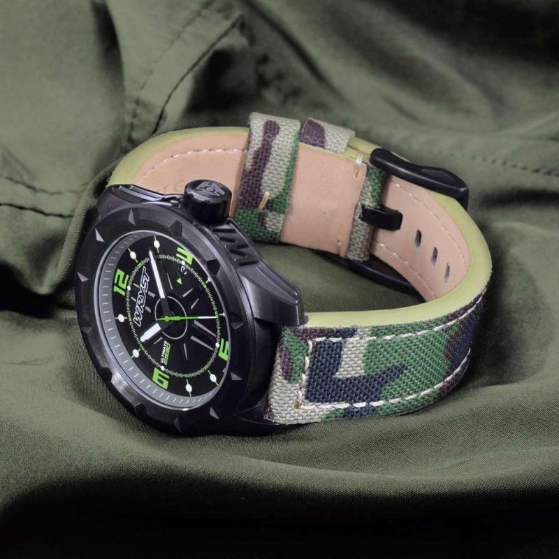 Reloj camuflaje de fabricación suiza