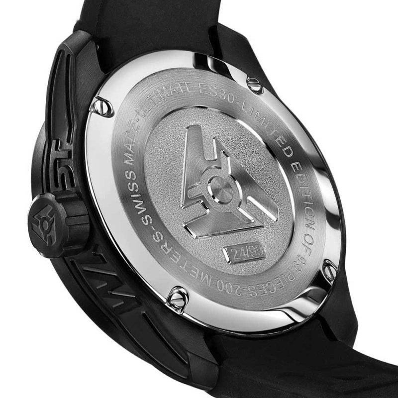 Schwarze Uhr Kohlefaser Limited Edition