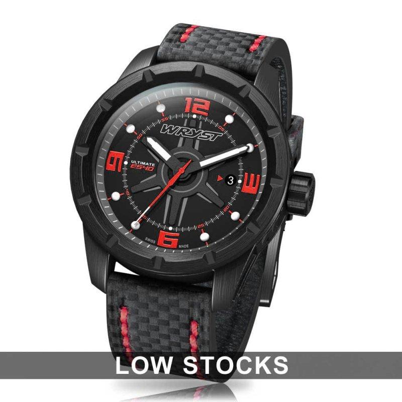 Reloj negro fibra de carbono