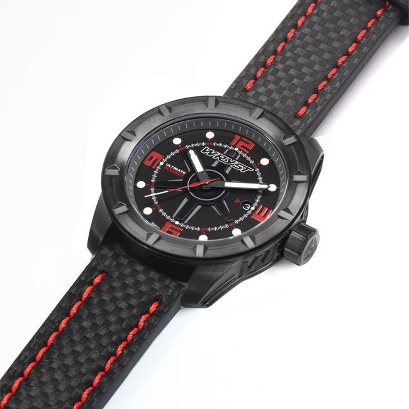 Wryst schwarze Uhrenkohlefaser