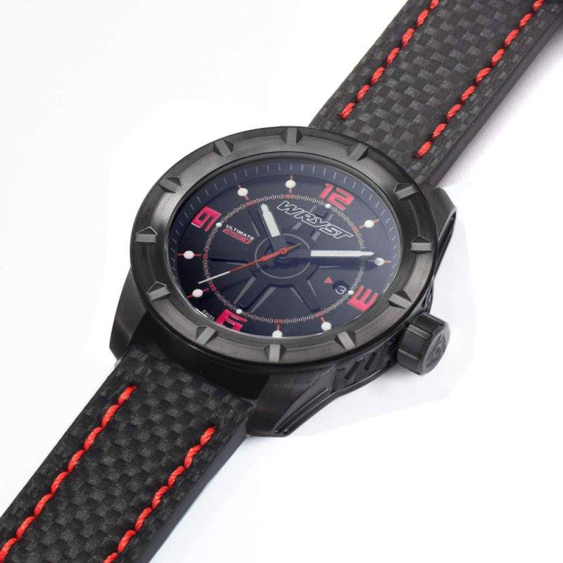 Wryst reloj negro fibra de carbono