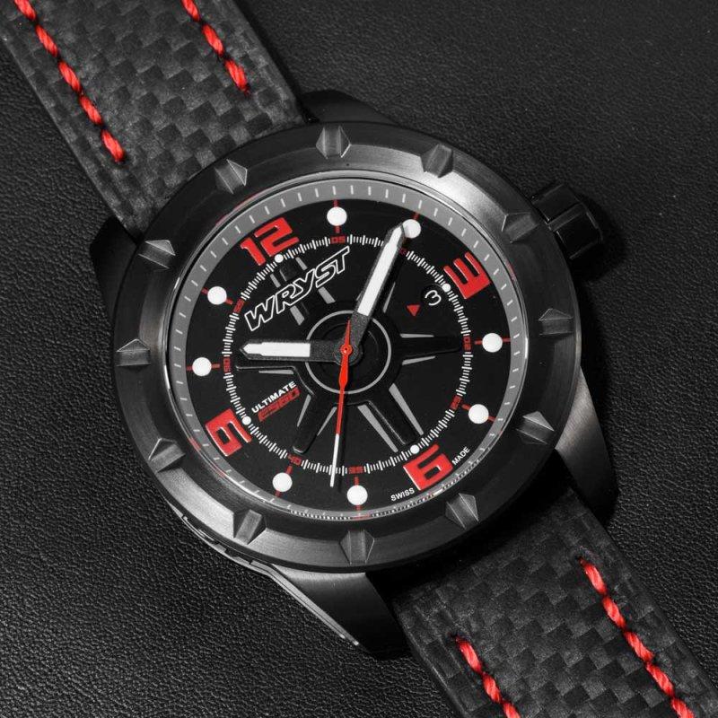 Dial fibra de carbono reloj negro