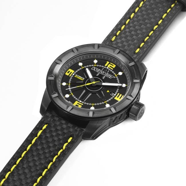 Black Limited Edition Watch Carbon Fiber Bracelet