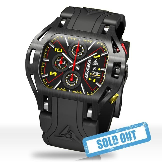 Black Swiss sport watch Wryst Isle of Man TT