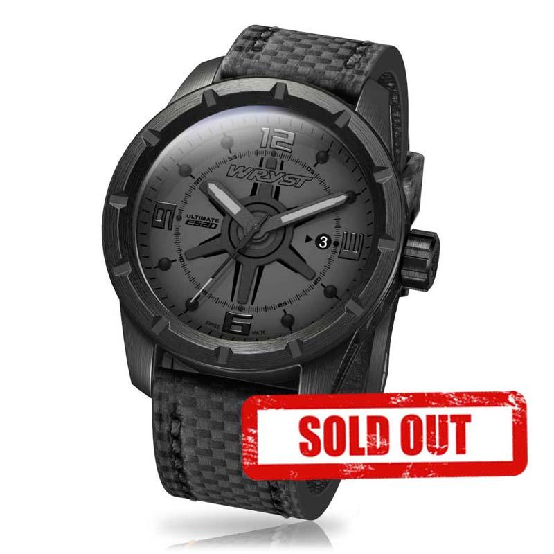 Kratzfeste Schwarze Uhr