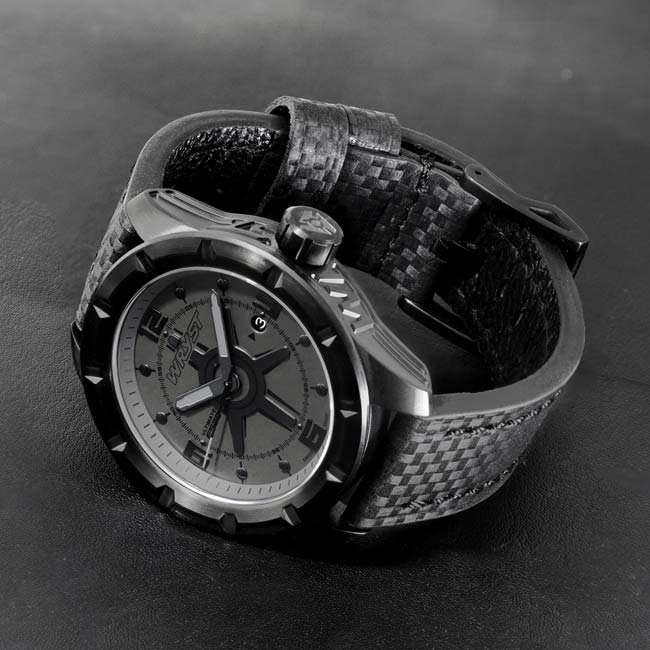 Scratch Resistant Black Watch Carbon Fiber