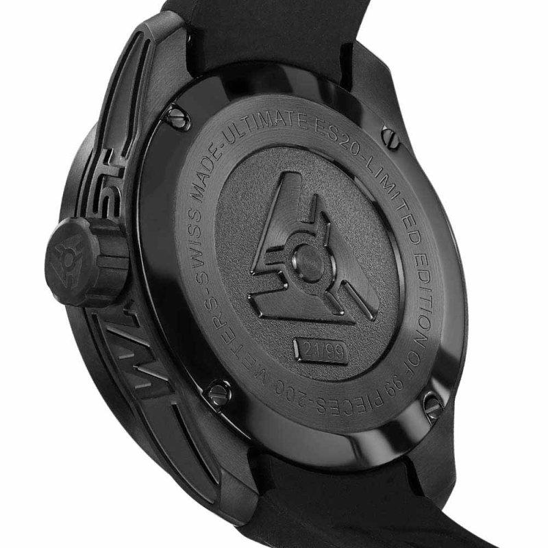 Kratzfeste schwarze Uhr Lederarmband Limited Edition