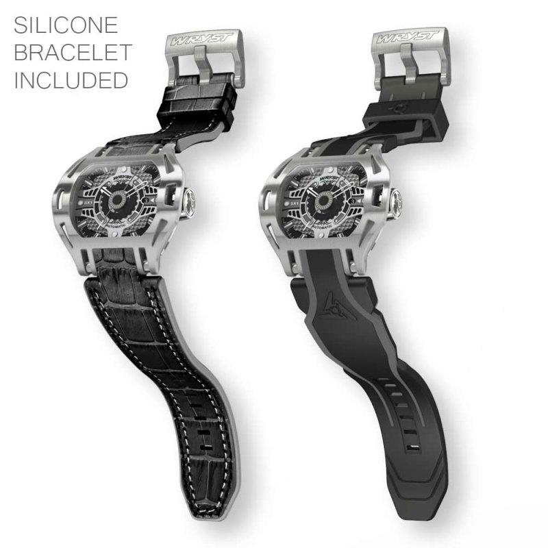Montre de sport automatique avec deux bracelets