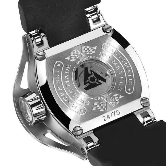 Skeleton Stainless Steel Watch with Automatic Movement