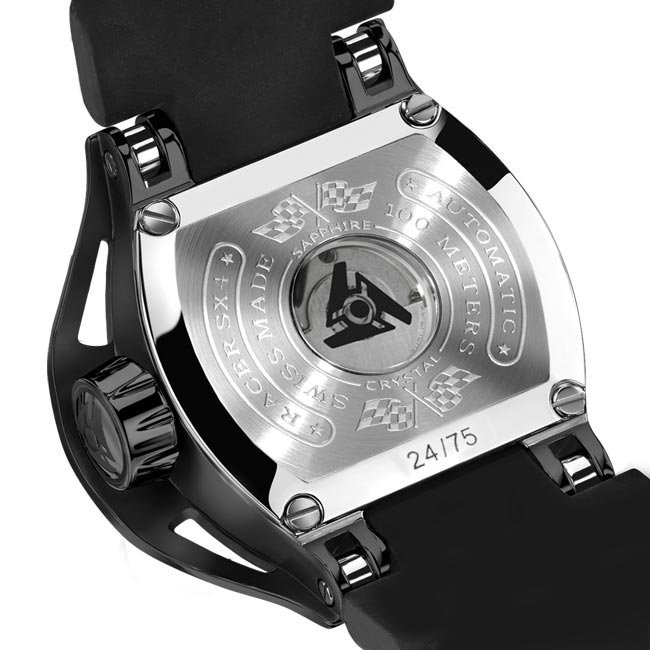 Limited Edition Automatic Watch Wryst Racer SX4 with See-through Back