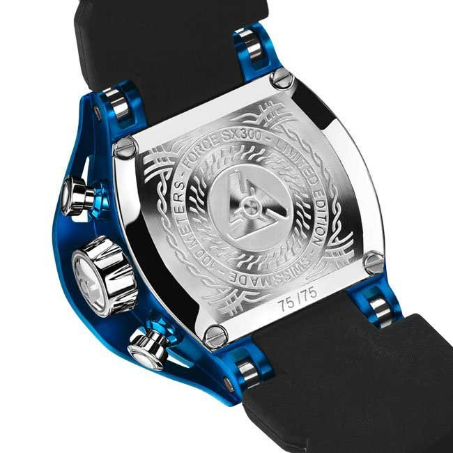 Mens Black and Blue Watch