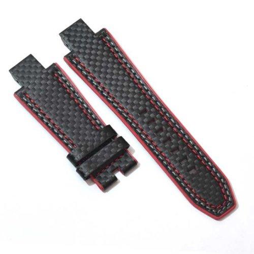 Schwarzes Kohlefaser Leder Armband NX1