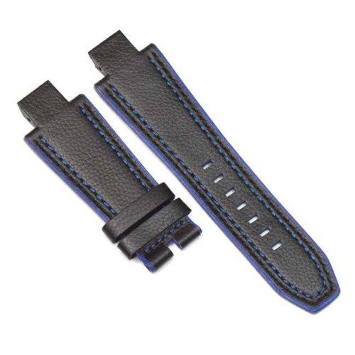 Bracelet Cuir Noir et Bleu NX3