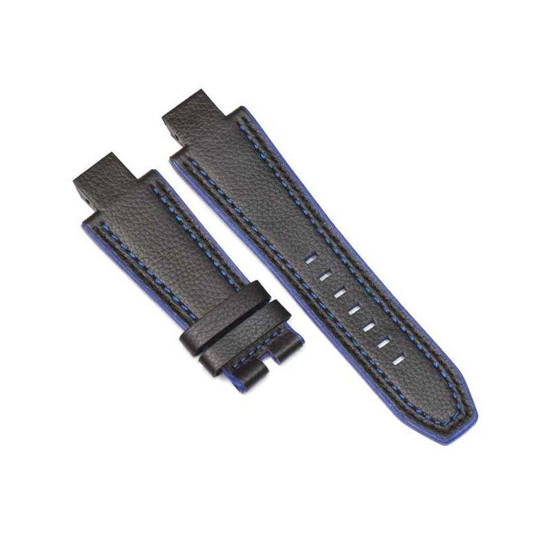Schwarzes und blaues Lederarmband NX3