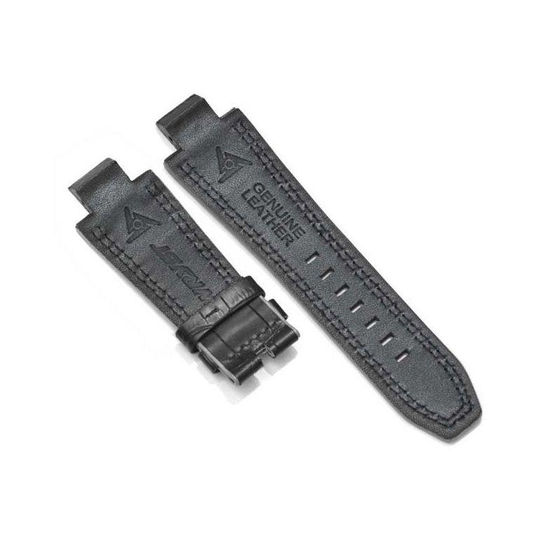 Pulsera piel de cocodrilo negra para reloj automático Racer SX1