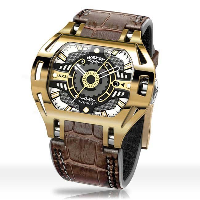 Yellow Gold Wryst Watch With Automatic Movement