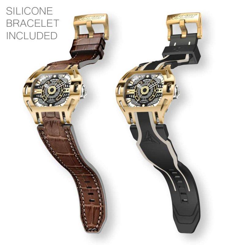 Reloj automático de oro de fabricación suiza