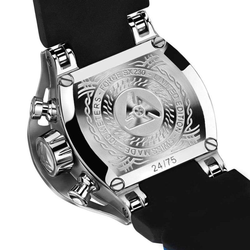 Schweizer blau Zifferblatt Uhr limitierte Auflage