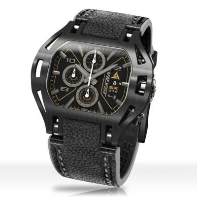 Black Leather Watch SX210