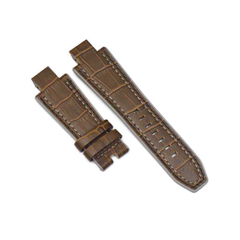 Bracelet en Cuir Alligator Marron NX2