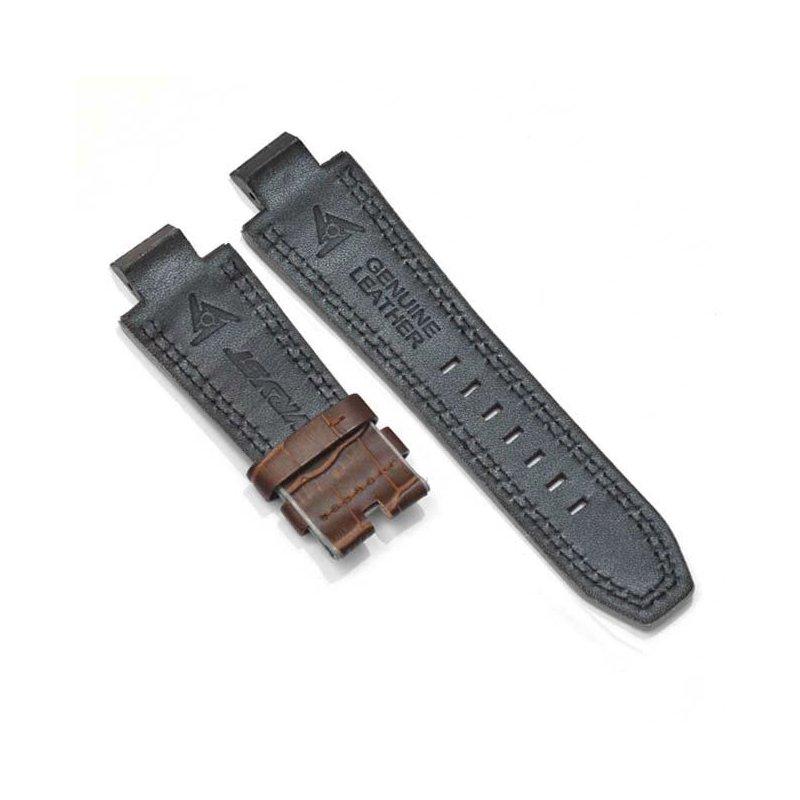 Bracelet en cuir alligator marron pour montre automatique Racer SX2