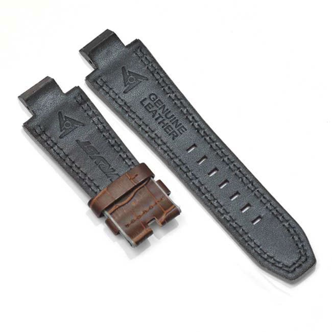 Brown Alligator Leather Bracelet for Automatic Watch Racer SX2