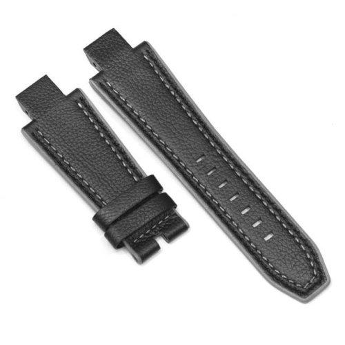 Pulsera de cuero negro y gris NX4