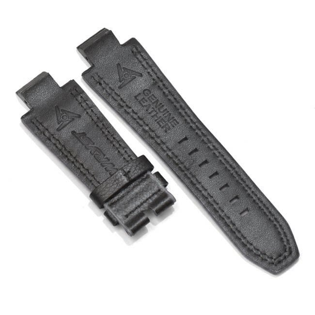 Black and Grey Watch Leather Bracelet for Wryst Force SX210