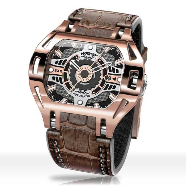 Rose Gold leather watches for men