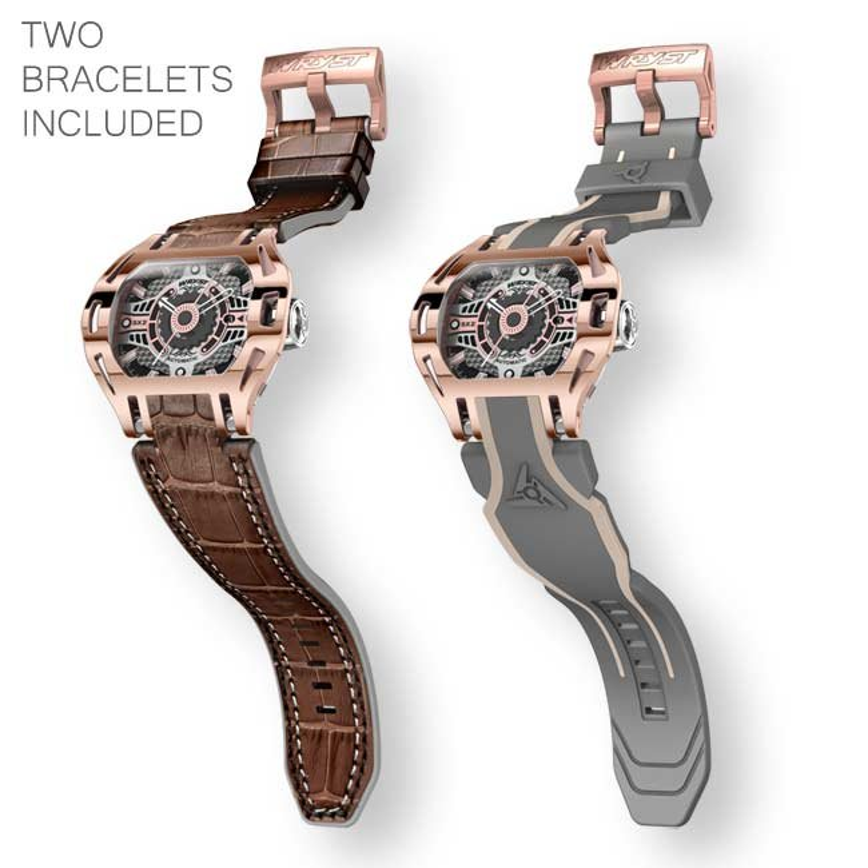 Reloj suizo automático Wryst Racer SX2 de lujo Oro rosa
