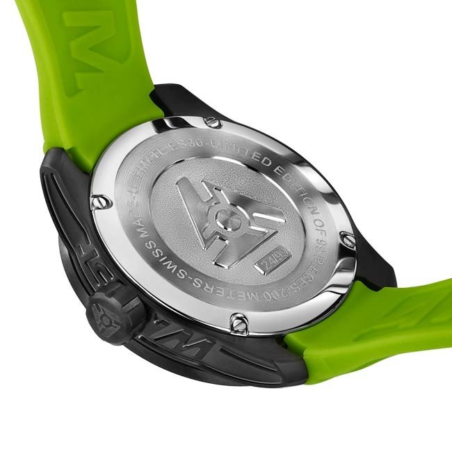 Black limited edition green Swiss sport watch