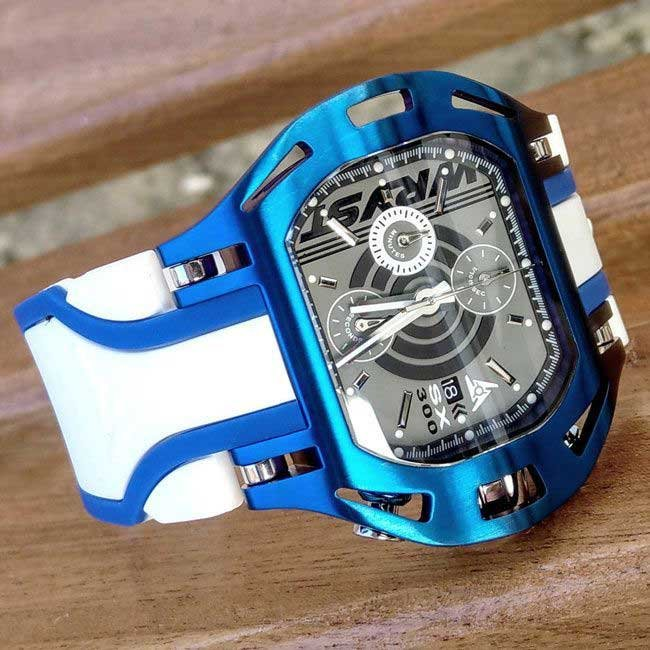 Luxury blue and white watch for men