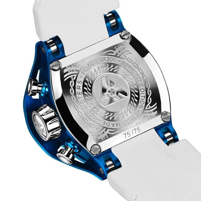 Limitierte blaue Herrenuhr Edition